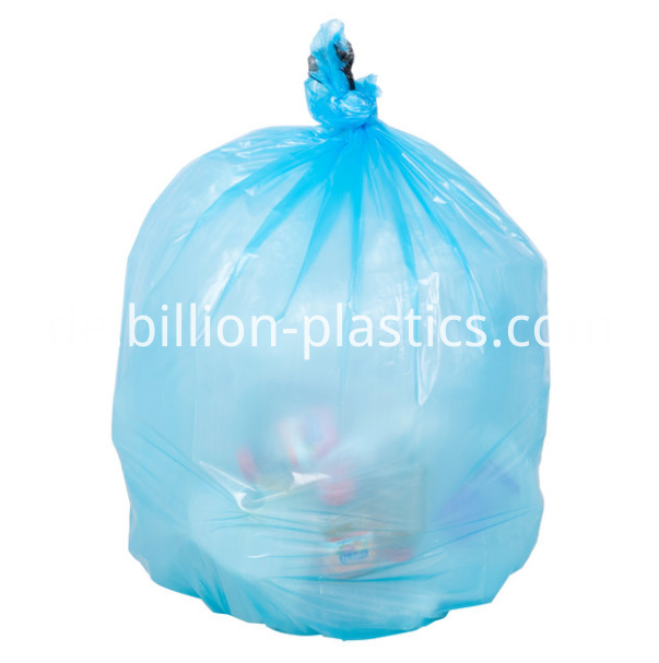 trash bag in blue
