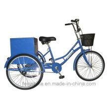"""24 """"/ 20"""" com triciclo industrial da carga da caixa da caixa traseira (FP-TRB-J014)"""