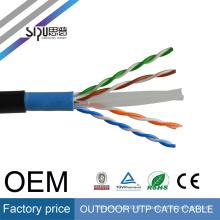 SIPU 2017 populaire type gros meilleur prix 0.5 CCA extérieur utp cat6 lan câble
