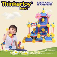 DIY Plastic Blocks House Model Education Toy for Kids