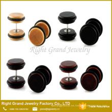 Nuevos tapones de oído falsos de madera naturales de alta calidad de la llegada