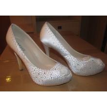 New Fashion High Heel Peep Toe Ladies Shoes (HCY02-1603)