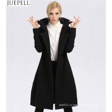 Новый Женский Длинный Участок Толстые Шерстяные Пальто Фабрики Мода Двубортный Женщин Пальто Полиэфира