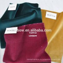 Royal rot 100% Baumwollgewebe Samt Textil auf Lager kleine moq