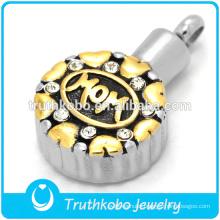 gold rudraksha pendant for mom in stainless steel making for wholesale