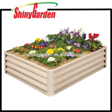 Metal Raised Garden Bed Kit - Erhöhte Pflanzer Box rechteckig für wachsende Kräuter, Gemüse, Blumen, Tin Material