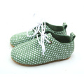 White Dots Rubber Sole Kids Oxford-schoenen