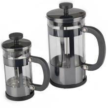 Borosilicate Glass French Press With Black Handle
