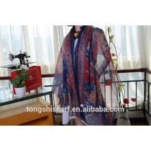 Последние модные классический напечатанный продолговатый шарф шаль и лучшие продажи шифон шарф twill