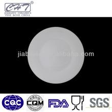 A005 wholesale porcelain fine bone china round serving plate