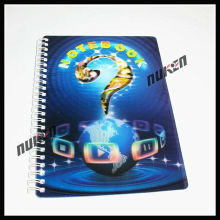 2015 Simple Spiral Binding 3D Notebook for School