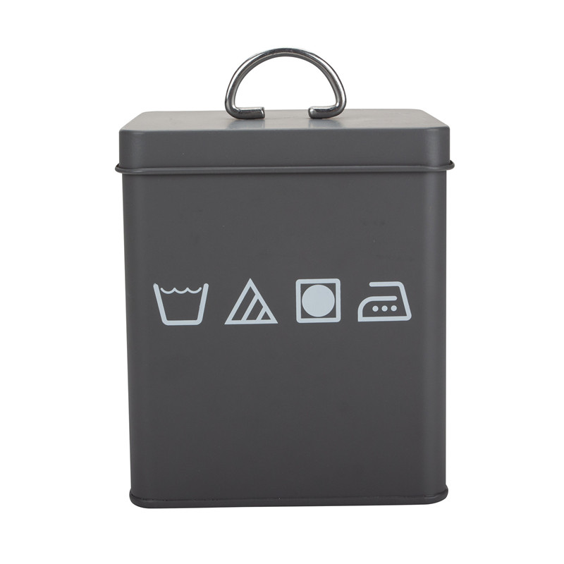 Laundry Powder Storage Tin Box