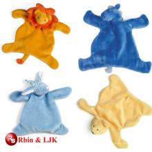 custom promotional lovely plush animal baby blanket