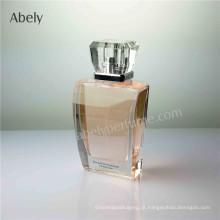 100ml garrafa de perfume de cristal de polimento geométrica
