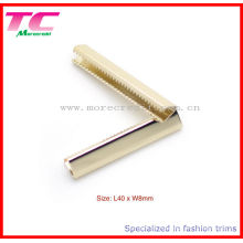 High Quality Metal Belt End Clips in Light Gold