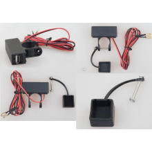 USB Port Ladegerät / Steckdose mit Kabel / Schalter für Motorrad
