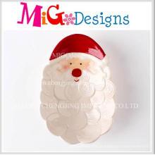 Placa e prato cerâmicos de alta qualidade do presente do Natal da promoção