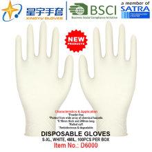 Белый цвет, одноразовые нитриловые перчатки без порошка, 100 / коробка (S, M, L, XL) с CE. Перчатки экзамена