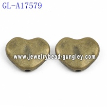 Heart shape Zinc Alloy beads