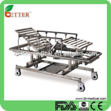 stainless steel 3-function manual Hi-Lo emergency stretcher
