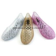 Senhora mais recente de alta qualidade sandálias de geléia de cristal (ff614-2)