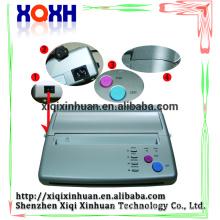 Machine de transfert de tatouage de machine à copieur thermique, Machine de télécopie thermique à tatouage à chaud, Imprimante de stencil de tatouage noir et argenté