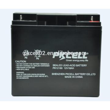 Bateria de chumbo-ácido selada 12V 18Ah para UPS, AGM, back-up de energia e outros equipamentos de iluminação