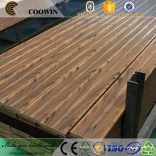 Groove surface anti-dérapant anti-uv installation facile bois composite en plastique (wpc) pont de la marina