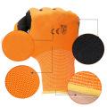 Hohe Sichtbarkeit Latex beschichtete Arbeitshandschuhe Weiche Handlichkeit Widerstand Komfortable Schaum Sicherheit Schutzhandschuhe Hersteller