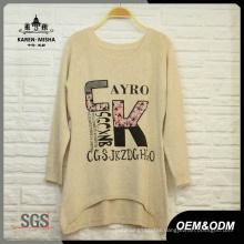Women Loose Letters Pattern Sweater