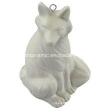 Pingente de cerâmica, porcelana Fox Gift pendurar acessórios de decoração (6577)