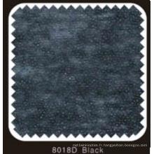 Doublure fusible non tissée double DOT de couleur noire avec poudre de PA (noir 8018D)