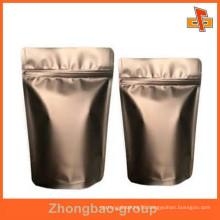 food grade excellent custom aluminum zipper tea bag wholesale