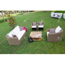 Sofá moderno sintético de la rota de Poly fijado para el jardín o la sala de estar al aire libre