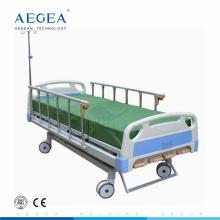 AG-BMS001B cinq fonction invacare mexique manivelle lit d'hôpital manuel avec poteau IV