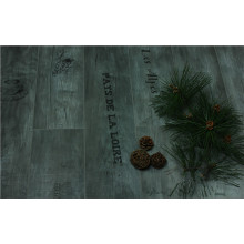 Household 8.3mm Pearl Walnut V-Grooved Waxed Edged Laminated Flooring