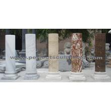 Stone granito arenito mármore coluna para decoração de casa (QCM0132)