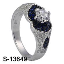 Bijoux fantaisie 925 Sterling Silver femmes bague avec CZ bleu (S-13649)