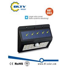 1W Sensor de movimiento montado en la pared LED al aire libre Luz solar