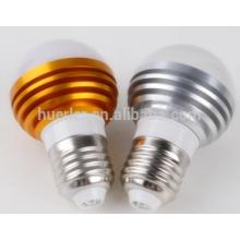 3leds led light bubs e26 / b22 / e27 3 watts e27 ampoule d'éclairage led