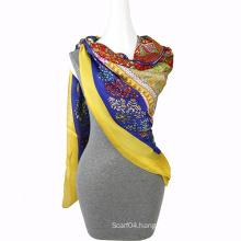 Fashion Printing chiffon floral scarf Square Scarf