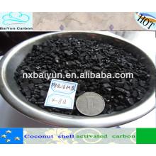 Carvão activado granular com base de coco de 1 a 6 mesh