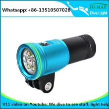 Deep Dive LED Tauchen Video wiederaufladbare Fackel Licht Kamera