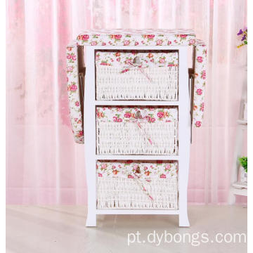 Adjustable Wooden Mounted Cabinet with folding Ironing Board