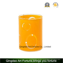 Printed Glass Votive Candle Holder for Home Decor