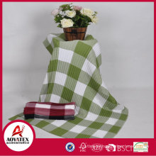 Hot selling cheap multicolor plaid 100% acrylic woven blanket