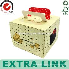 изготовленный на заказ швейцарский рулет дизайн упаковки бумажного стаканчика упаковочной коробки коробка торта с ручкой