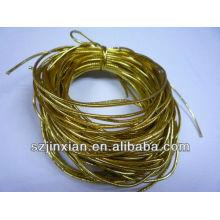 лучшая цена 2мм золото резиновый эластичный шнур