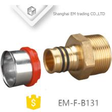 EM-F-B131 PEX Brass Presss Pipe Metric Pex Pipe Brass Fitting