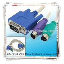 Кабель переключателя KVM, Мыжская клавиатура для мышей PS / 2